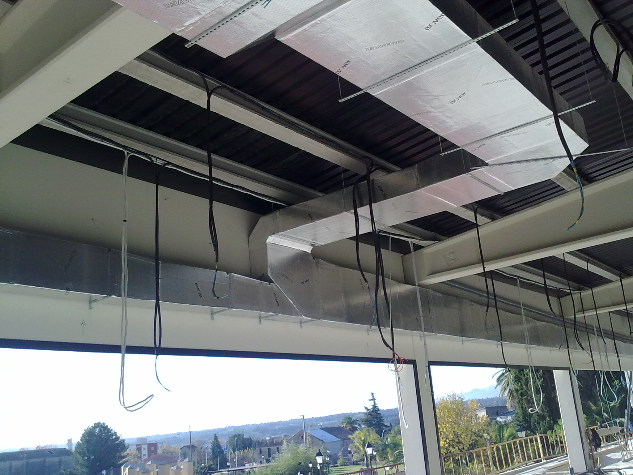 conductos de climatización en el restaurante Villa Retiro estrella Michelin