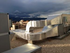 instalación en la cubierta de la residencia Sant Miquel