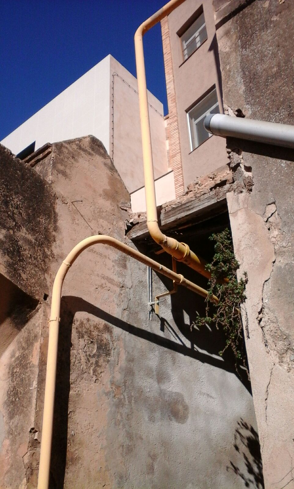 tuberia de gas de la residencia Sant Miquel
