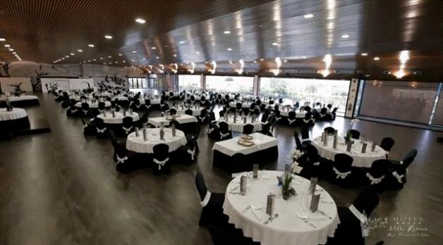 climatización sala de banquetes Villa Retiro Xerta