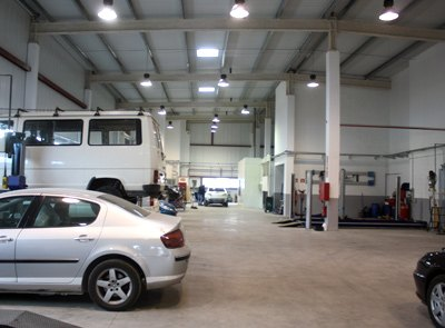 protección contra incendios en el taller Peugeot