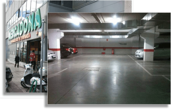 instalación parking Mercadona