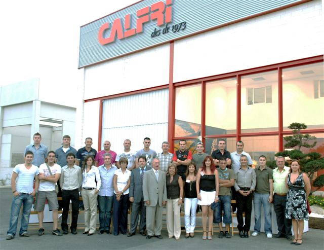 equipo humano de la empresa Calfri