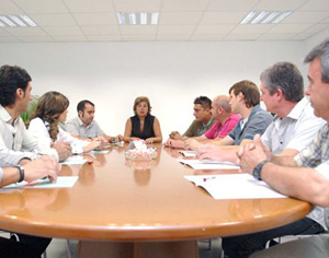 reunión del equipo Calfri
