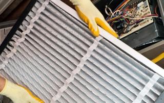 Limpieza de filtro de aire acondicionado