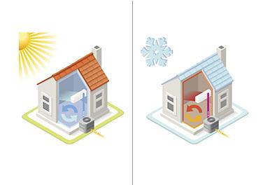 casa con bomba de calor