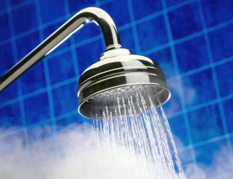 agua caliente ducha aerotermia