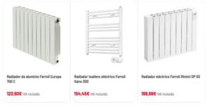 radiadores de calefacción Calfri tienda online