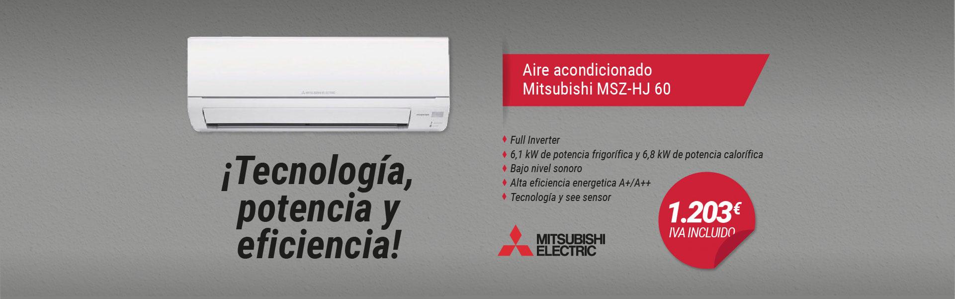 slider promo aire acondicionado Mitsubishi