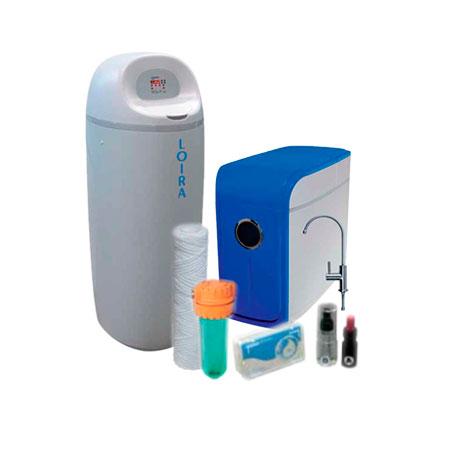 Kit tratamiento de agua con descalcificador Loira y osmosis Tucana