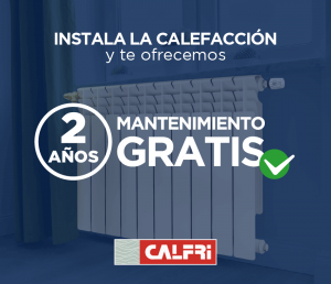 Oferta instalación de la calefacción con 2 años de mantenimiento gratis