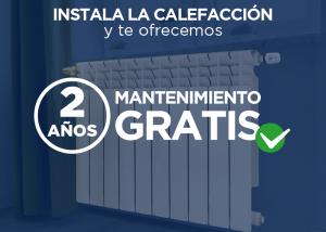 Producto oferta instalación de la calefacción con 2 años de mantenimiento gratis